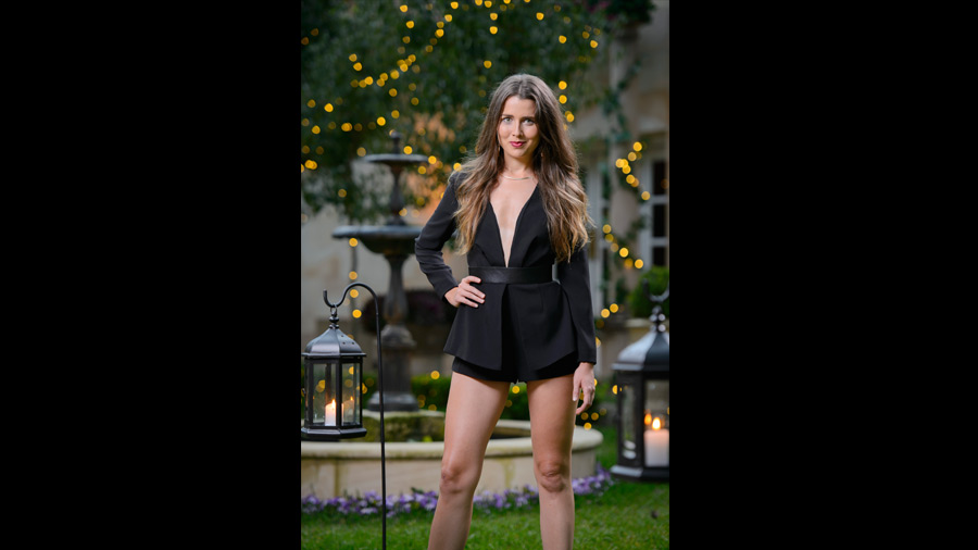 The Bachelor Fashion Australia 2015 - Jumpsuit Edition Heather Playsuit with Forty Up
