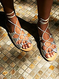 Free People Marrakesh Lace Up Sandal