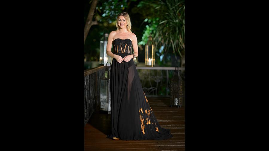 Alex the bachelor black dress