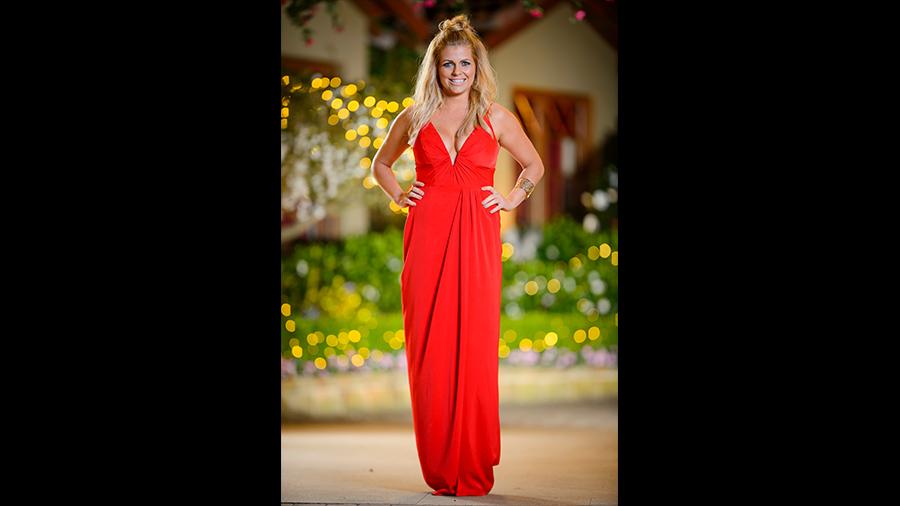Faith the bachelor dress red