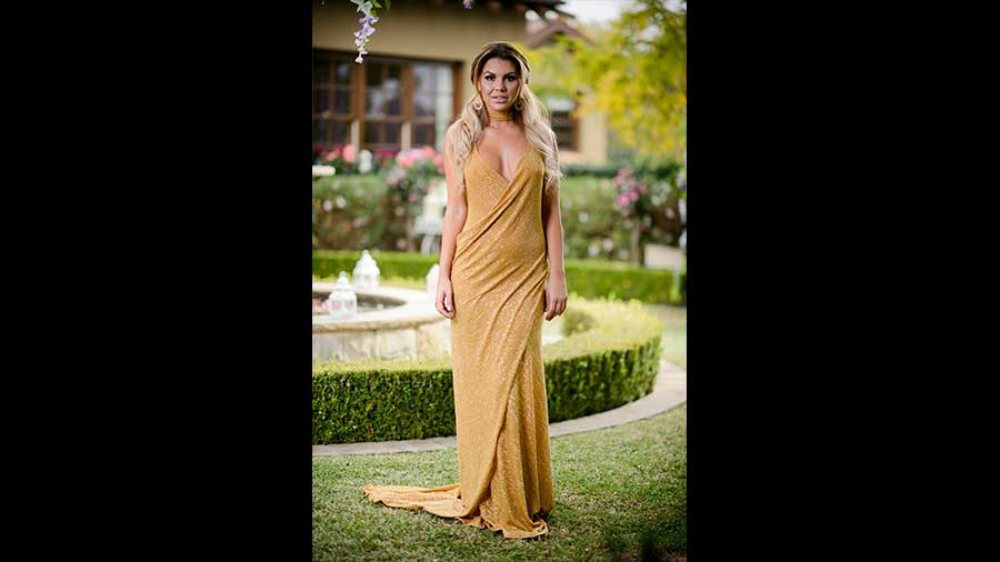 Kiki gold dress the bachelor