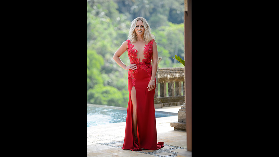 Nikki The Bachelor Australia red dress