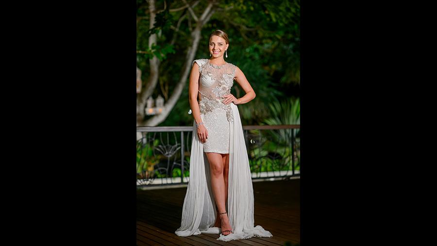 Olena the bachelor white dress